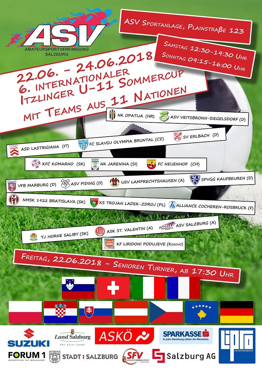 6. Itzlinger Sommercup des ASV Salzburg für U 11-Mannschaften